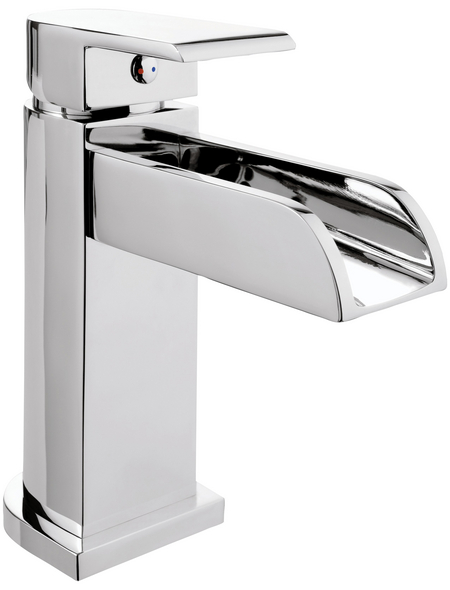 "aquaSu® Waschtischarmatur »AQUA WATERFAL«, Messing, glänzend, ⅜"""