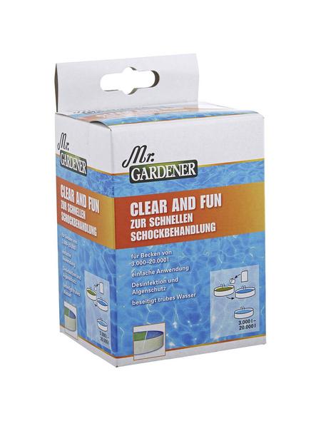MR. GARDENER Wasseraufbereitungsgranulat, 5 Stück, für Pools