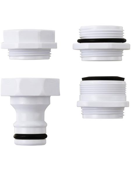 takagi Wasserhahn-Adapter »G063EX«, Länge: 12 cm, Kunststoff, weiß
