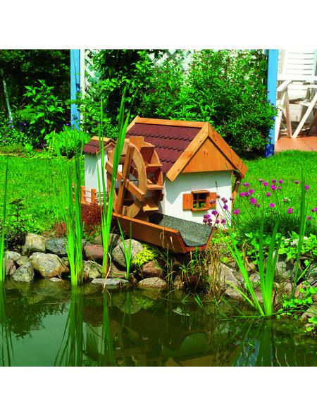 PROMADINO Wassermühle, BxH: 110 x 59 cm, Kiefernholz, honigbraun