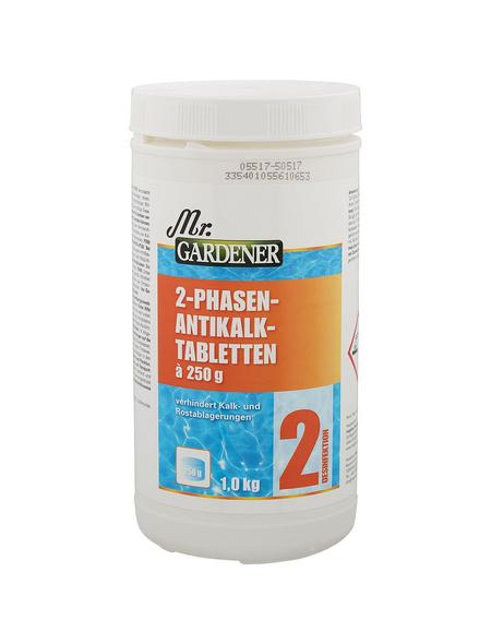 MR. GARDENER Wasserpflege »2 Phasen Antikalk«, 2 Phasen Antikalk, für Pools