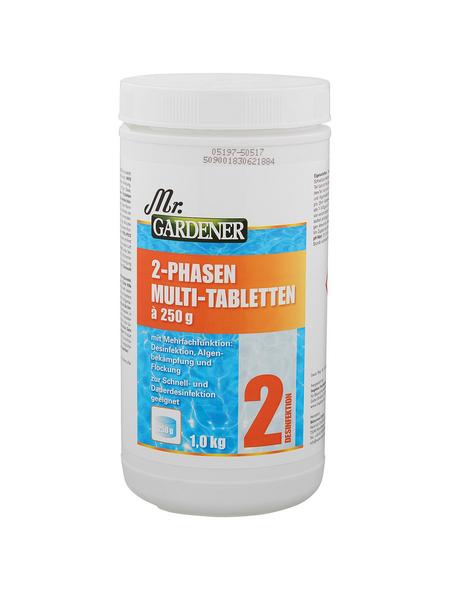 MR. GARDENER Wasserpflege »2 Phasen Multitablette«, 2 Phasen Multitablette, für Pools