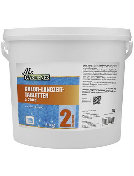 MR. GARDENER Wasserpflege »Chlor - Langzeit Tabletten «, Chlor - Langzeit Tabletten , für Pools