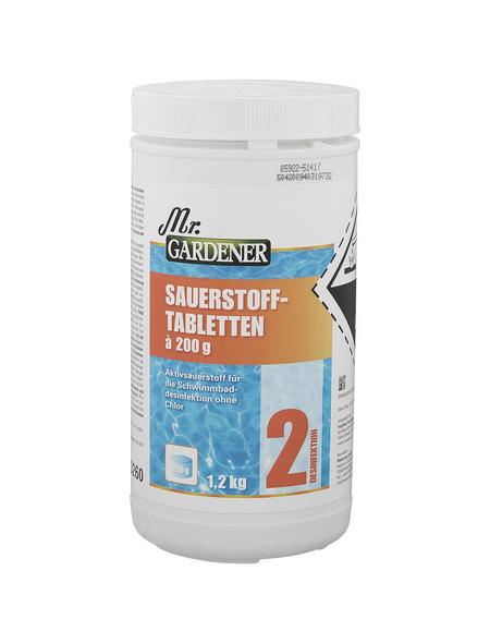 MR. GARDENER Wasserpflege »Sauerstofftabletten «, Sauerstofftabletten , für Pools