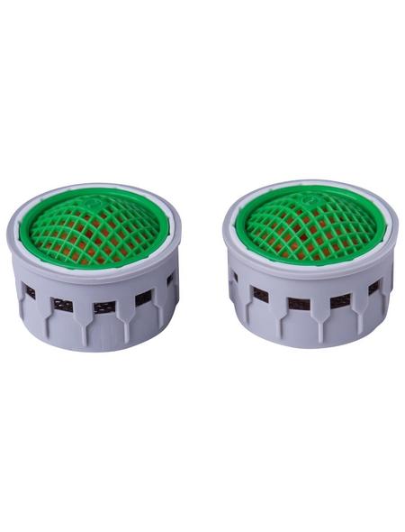 CORNAT Wasserspar-Strahlregler-Einsatz, Grau/Grün