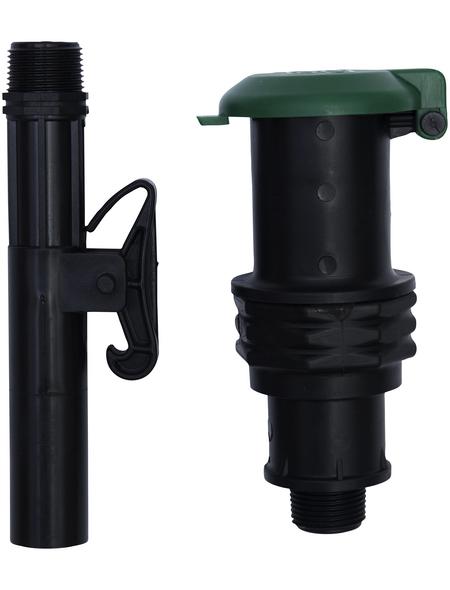 CORNAT Wassersteckdose, schwarz/grün, Polypropylen (PP)