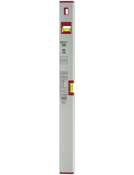 CONNEX Wasserwaage »EURO«, Länge: 60 cm, silberfarben