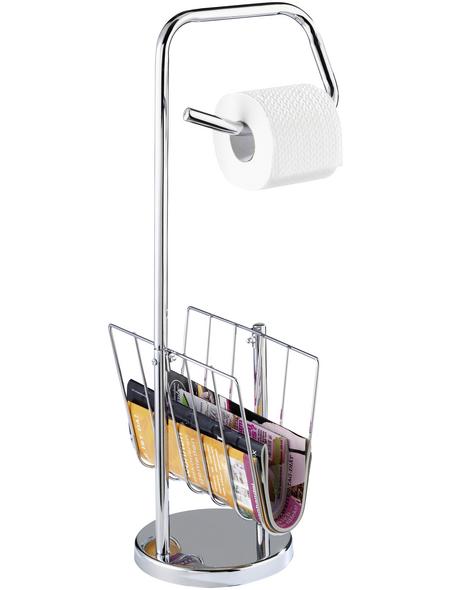 WC-Bürsten-/Papierständer, Höhe: 65,5  cm, chromfarben