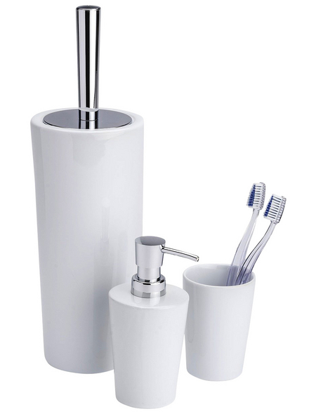 WENKO WC-Bürsten & WC-Garnituren »Coni«, Höhe: 37 cm, weiss/chromfarben
