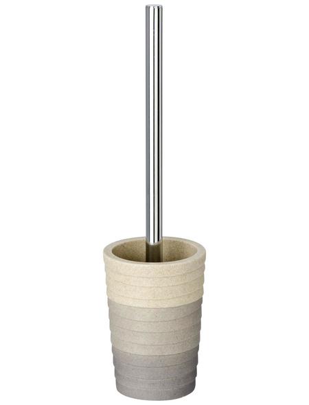 WENKO WC-Bürsten & WC-Garnituren »Cuzco«, Höhe: 37 cm, grau/beige