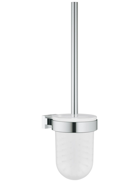 GROHE WC-Bürsten & WC-Garnituren »Essentials Cube«, Metall/Glas, glänzend, chromfarben