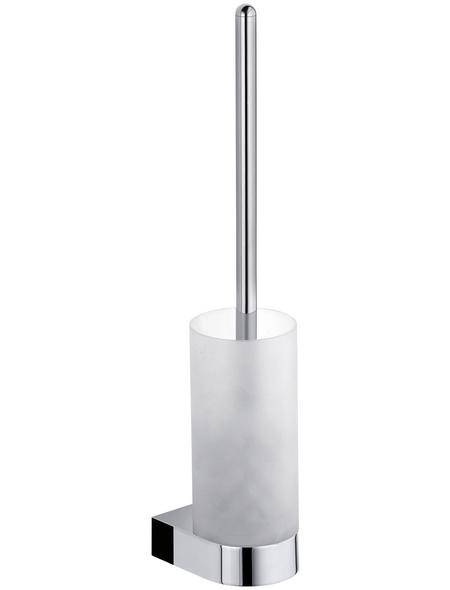 KEUCO WC-Bürsten & WC-Garnituren, Glas, chromfarben/weiß