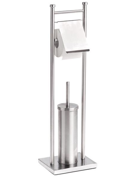 ZELLER WC-Bürsten & WC-Garnituren, Höhe: 76 cm, silberfarben