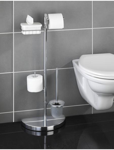 WENKO WC-Bürsten & WC-Garnituren, Höhe: 84,5 cm, silberfarben