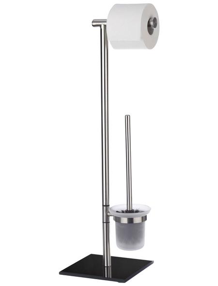 WENKO WC-Bürsten & WC-Garnituren »Lima«, Höhe: 69  cm, silberfarben