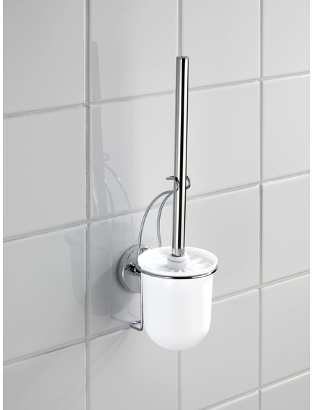 WENKO WC-Bürsten & WC-Garnituren »Milazzo«, Höhe: 36,5 cm, weiss/chromfarben