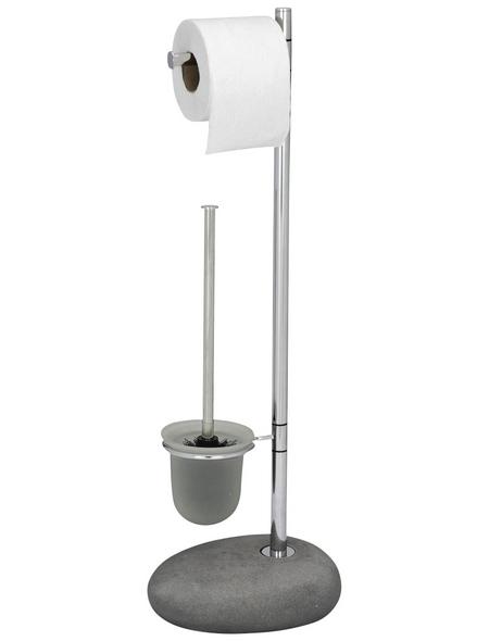 WENKO WC-Bürsten & WC-Garnituren »Pebble«, Stahl, silberfarben