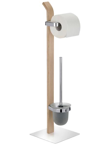 WENKO WC-Bürsten & WC-Garnituren »Samona«, Stahl | Holz