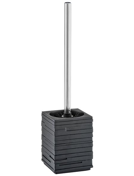ZELLER WC-Bürsten & WC-Garnituren »Schiefer«, Höhe: 38,5 cm, silberfarben/schwarz