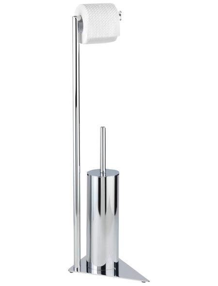 WENKO WC-Bürsten & WC-Garnituren »Torre«, Stahl, silberfarben