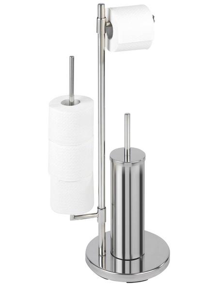 WENKO WC-Bürsten & WC-Garnituren »Universalo Neo«, Höhe: 73 cm, silberfarben