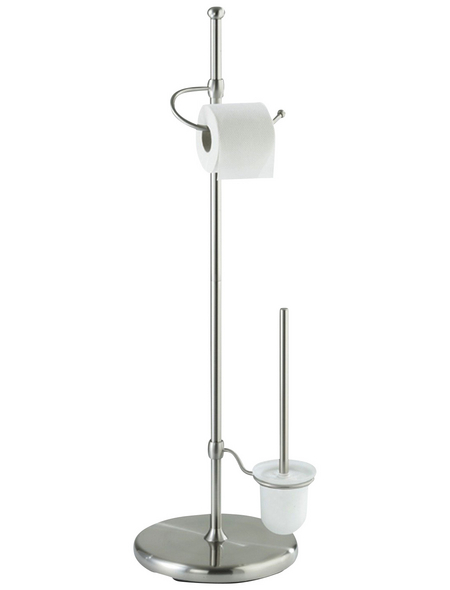 WENKO WC-Garnitur »Adiamo«, stahl/glas, chromfarben