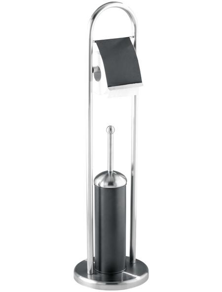 WENKO WC-Garnitur »Adrano«, Edelstahl, anthrazit