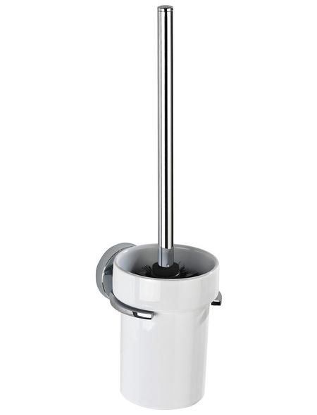 WENKO WC-Garnitur »Capri«, Keramik/Zinkdruckguss, weiß/chromfarben