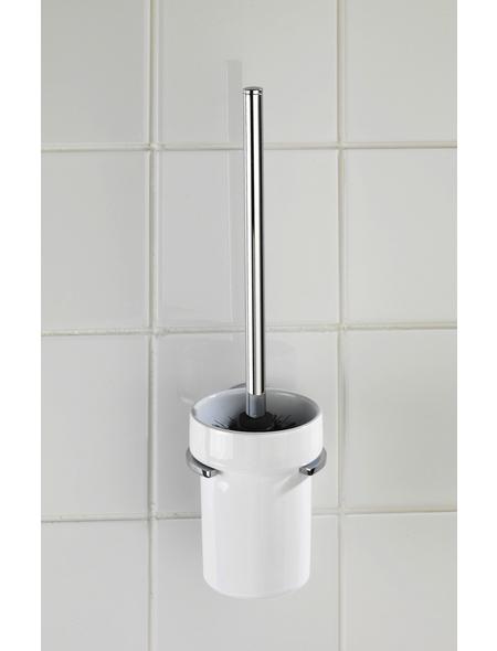 WENKO WC-Garnitur »Capri«, keramik/zinkdruckguss, weiss/chromfarben