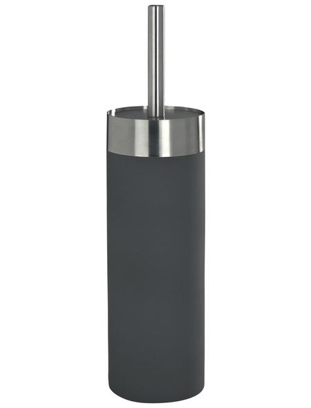 WENKO WC-Garnitur »Creta«, edelstahl/polystyrol_eps, grau