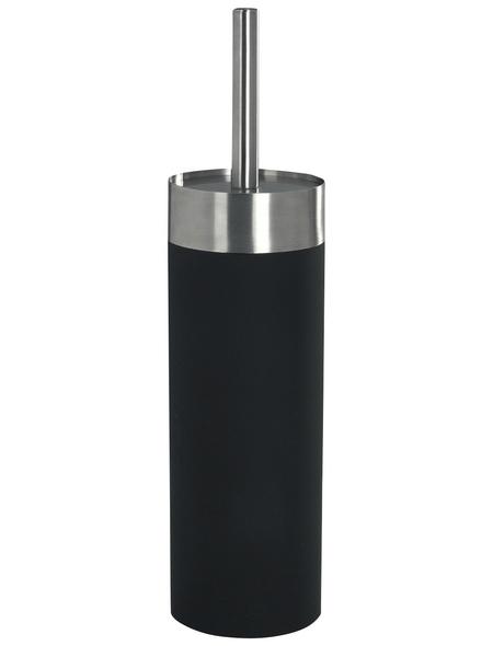 WENKO WC-Garnitur »Creta«, edelstahl/polystyrol_eps, schwarz