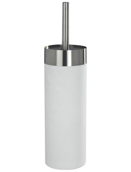 WENKO WC-Garnitur »Creta«, edelstahl/polystyrol_eps, weiß
