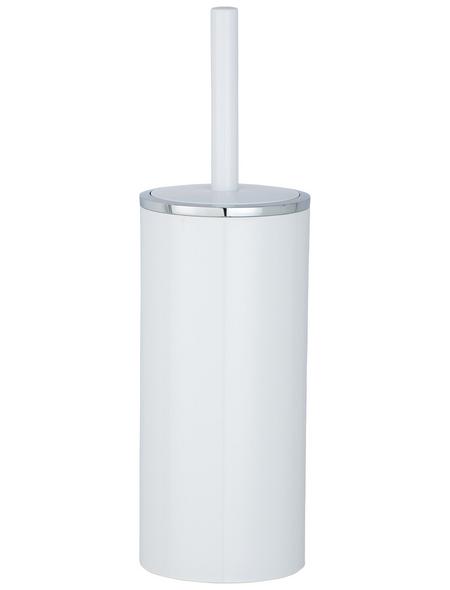 WENKO WC-Garnitur »Inca«, Kunststoff, weiß/chromfarben