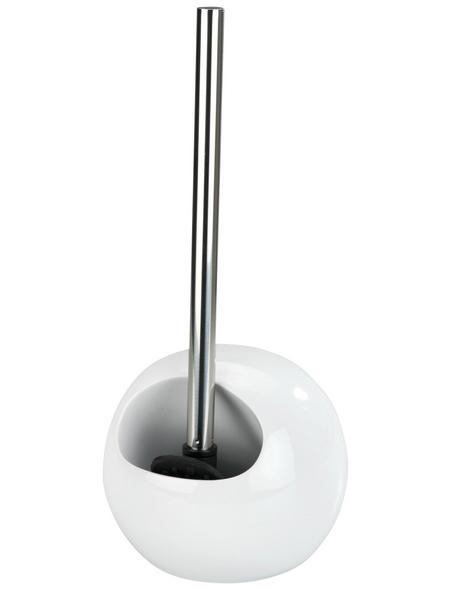 WENKO WC-Garnitur »Rimless«, Kunststoff/Edelstahl/Keramik, weiß