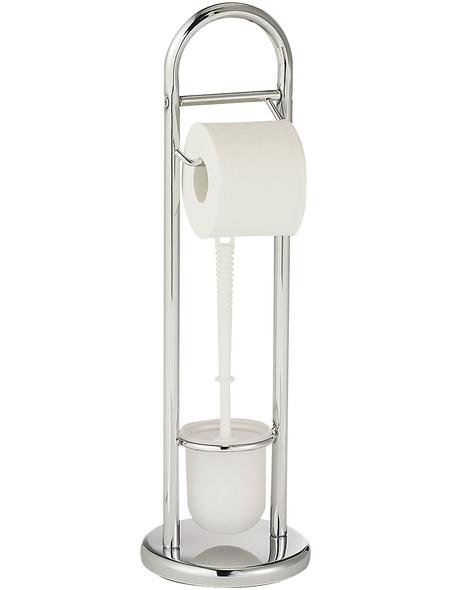 WENKO WC-Garnitur »Siena Chrom«, Kunststoff/stahl, chromfarben