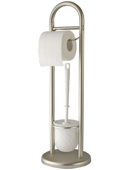 WENKO WC-Garnitur »Siena«, Kunststoff, silberfarben