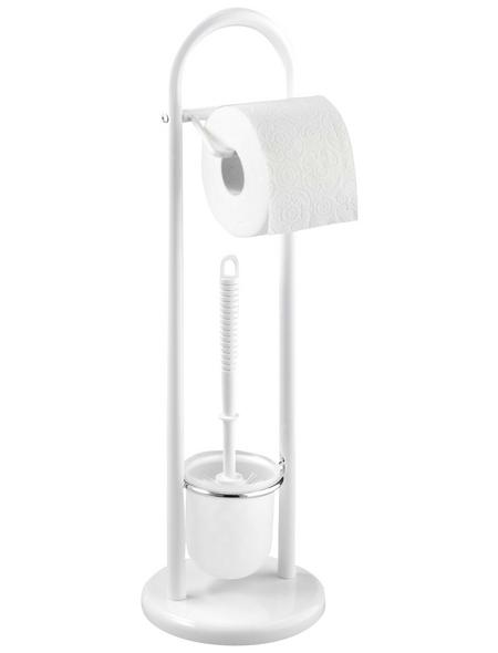 WENKO WC-Garnitur »Siena«, Stahl, weiß