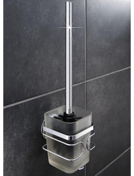 WENKO WC-Garnitur »TurboFIX«, Kunststoff/Edelstahl, edelstahlfarben