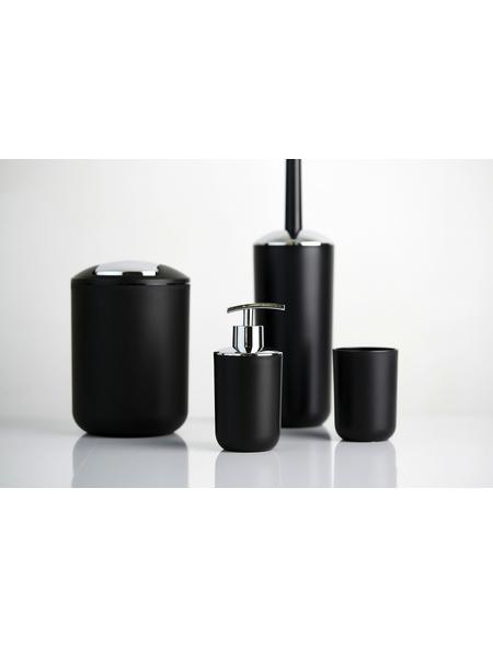 WENKO WC-Garnitur und Kosmetikeimer »Brasil«, H x B x T: 37 x  x  cm, schwarz/chromfarben