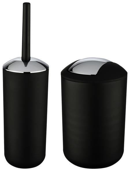 WENKO WC-Garnitur und Kosmetikeimer »Brasil«, schwarz/chromfarben