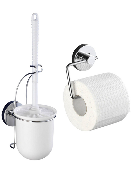 WENKO WC-Garnitur und Toilettenpapierhalter »Milazzo«, chromfarben