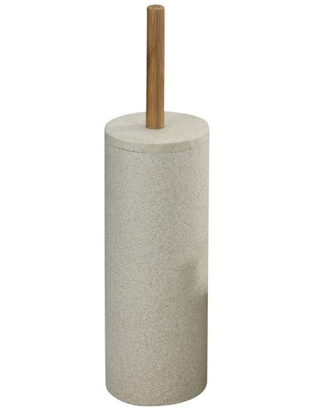WENKO WC-Garnitur »Vico«, bambus/polyresin, beige