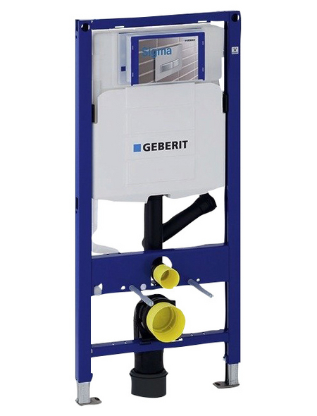 GEBERIT WC-Montageelement »Duofix «, BxHxT: 500 x 1120 x 120 mm, Geruchsabsaugung mit Abluft, blau