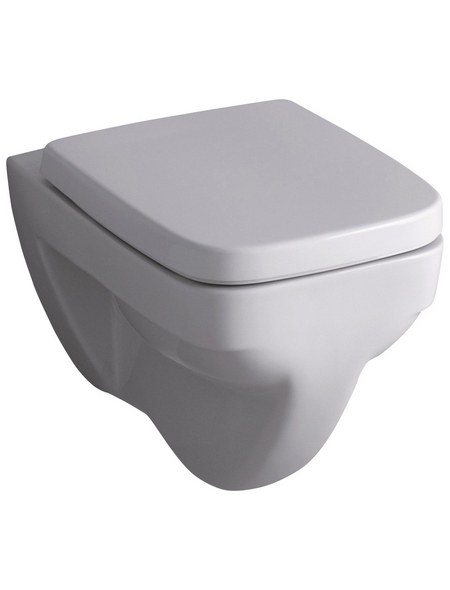 GEBERIT WC »Renova Plan«, Flachspüler, weiß