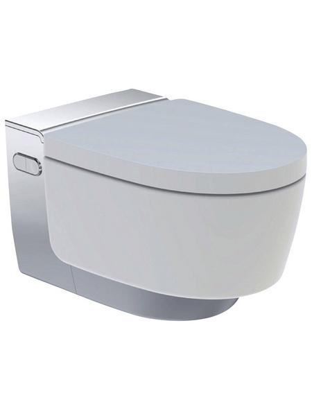 GEBERIT WC-Set »AquaClean«, Tiefspüler, weiss/chromfarben, Spülrandlos