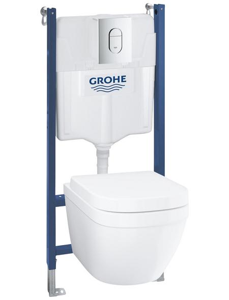 GROHE WC-Set »Solido Compact«, Tiefspüler, chromfarben/alpinweiss
