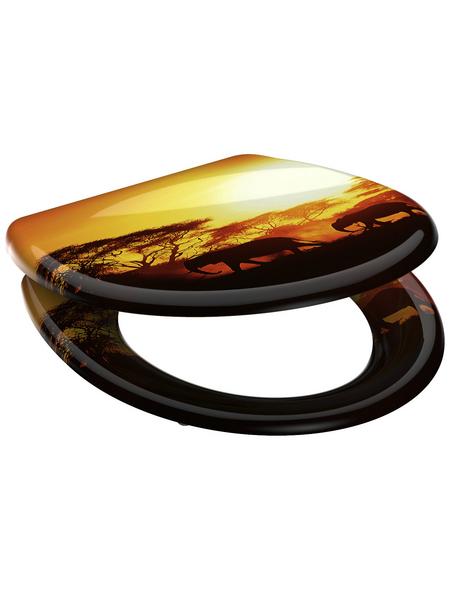 SCHÜTTE WC-Sitz »Africa« aus Duroplast,  oval mit Softclose-Funktion