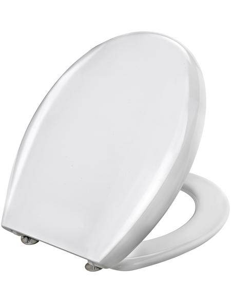 WELLWATER WC-Sitz aus Duroplast,  D-Form