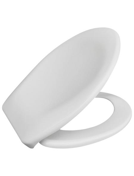 WC-Sitz aus Duroplast,  oval mit Softclose-Funktion