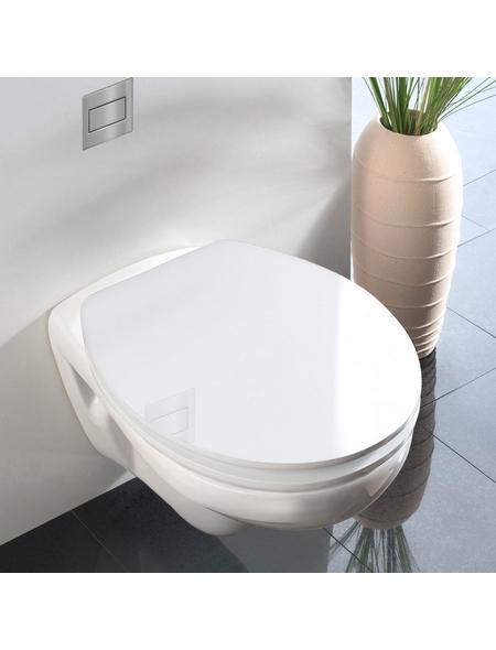 WENKO WC-Sitz aus Duroplast,  oval mit Softclose-Funktion